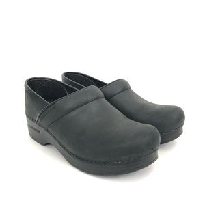Dansko Sz 38 US 7.5-8 Oiled Leather Comfort Clogs